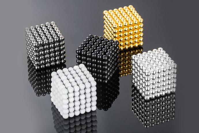 Magnetized Ball Cubes