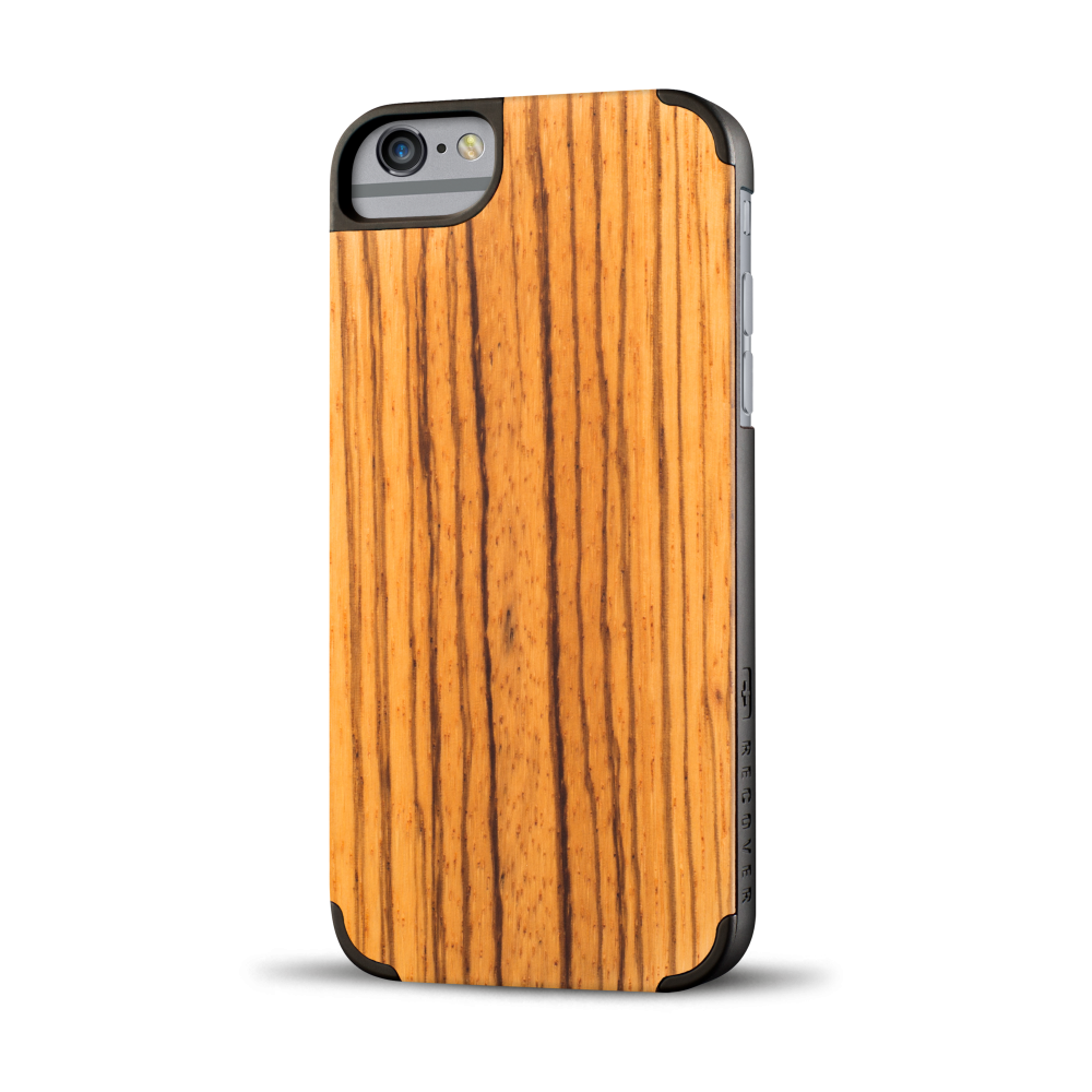 iphone case, wood iphone case, zebra wood, zebrawood iphone case, recover wood case