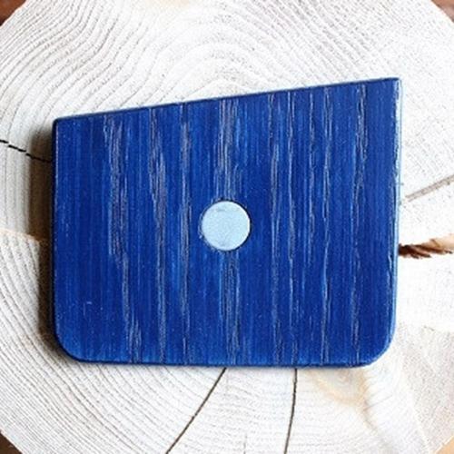 Wooden Pocket Square   Midnight Blue   Baffi   Ash Wood