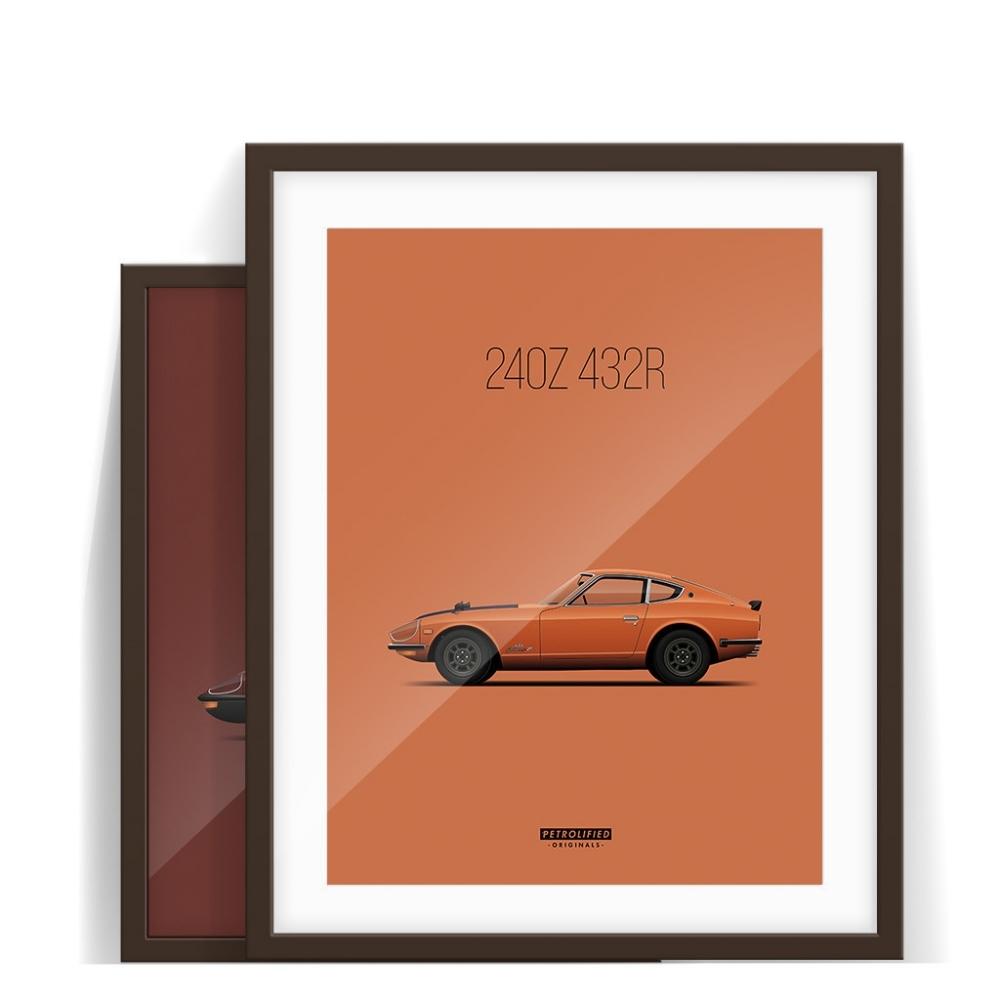 car prints, datsun z collection, luxury car art
