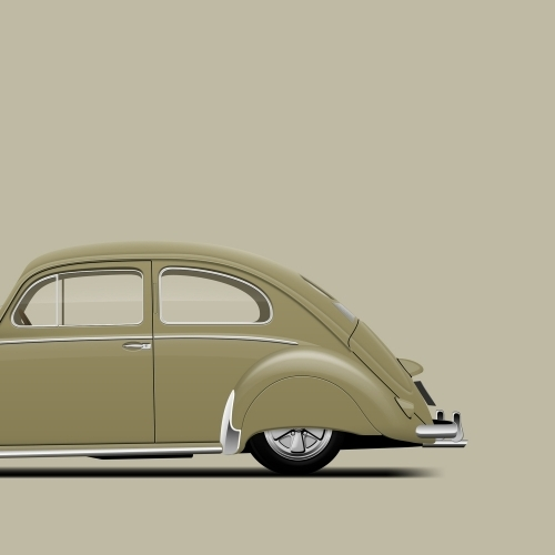 car prints, fendered 57, luxury car art