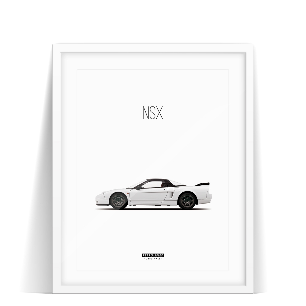 car prints, honda nsx, luxury car art