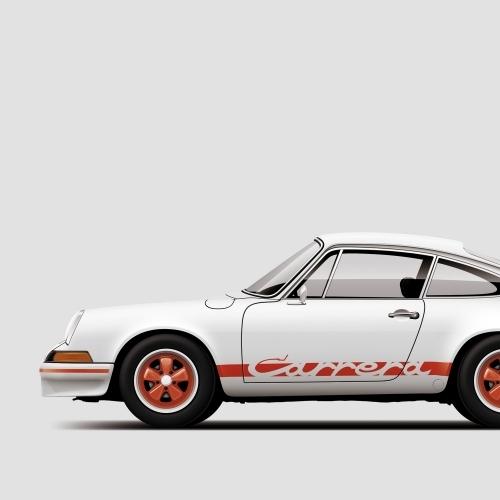 car prints, Porsche 911 Carrera RS, luxury car art