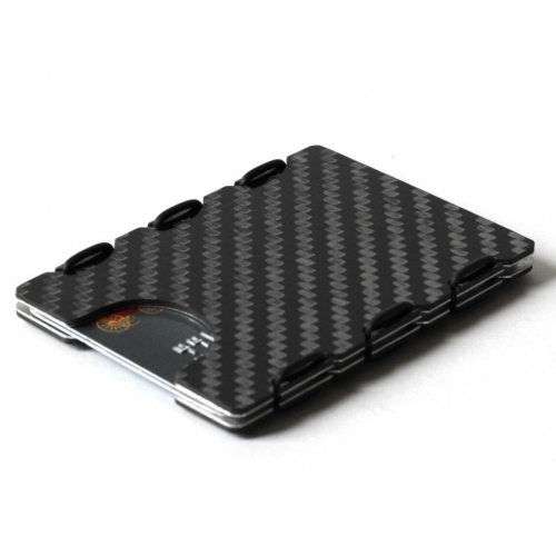 RFID Carbon Fiber Card Case, Black