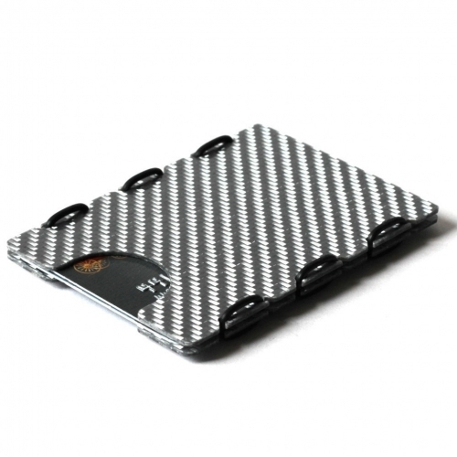 Ultra Carbon Fiber Card Case, Silver