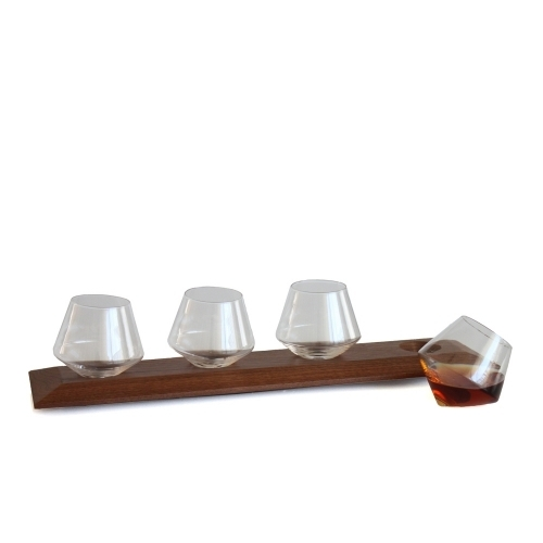 Wooden Glasses Tray   Cupa-Lift Flight   Sempli