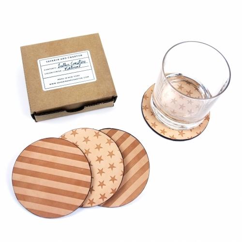 Leather Coaster, Savarin & Charton