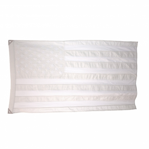 Wool American Flag, White