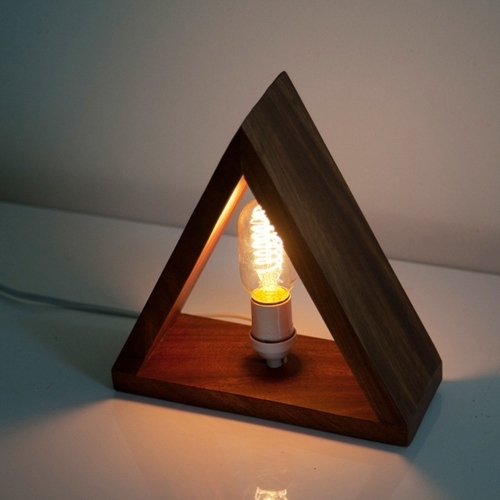 Mugavu Triangle Lamp, Rose & Fitzgerald