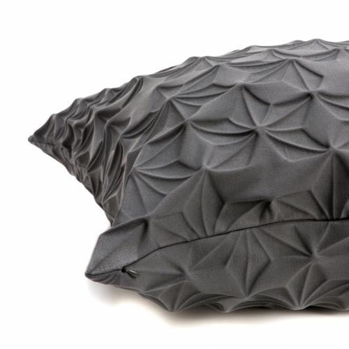 Amit Pillow Cover, Grey, Mikabarr