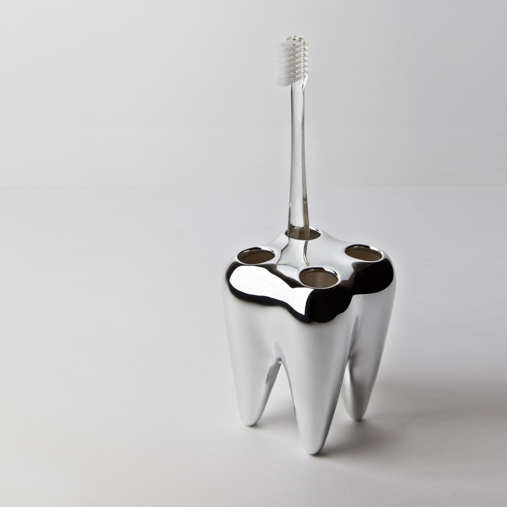 Toothbrush Holder, Silver, Propaganda