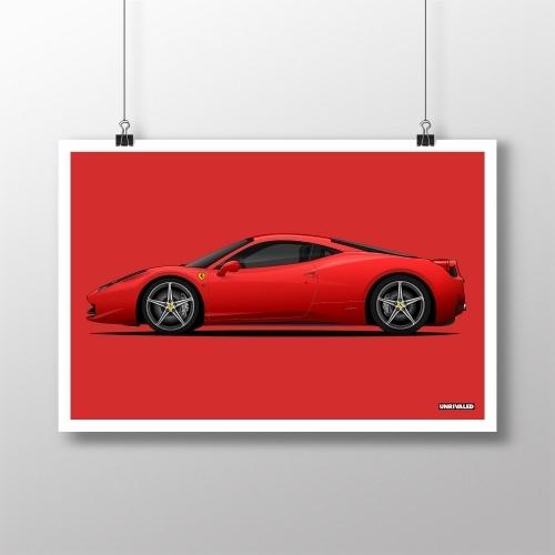 Ferrari 458 Italia Print