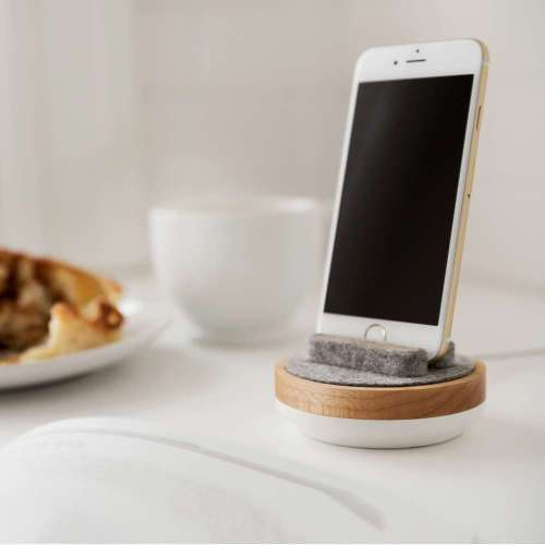 White and Maple Spool Dock
