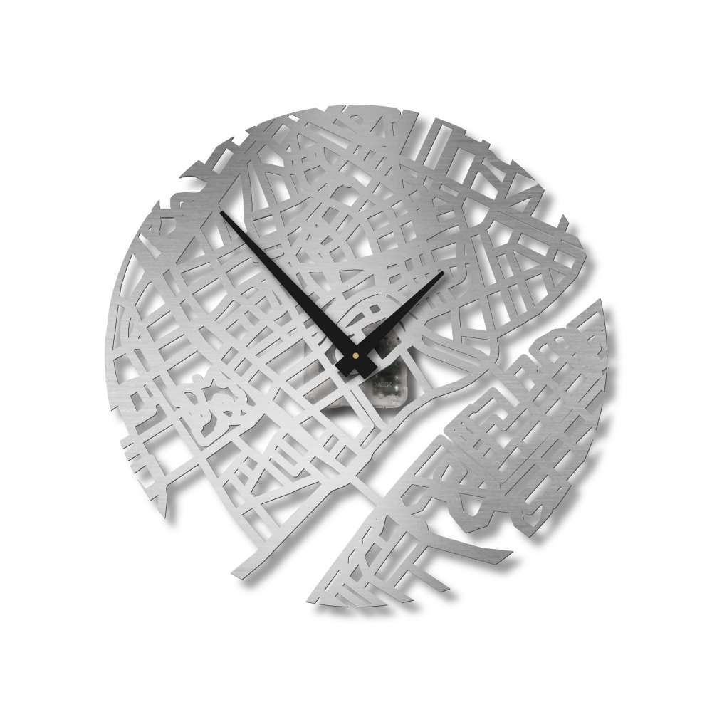 Copenhagen Stainless Steel Clock | Urban Story Clocks