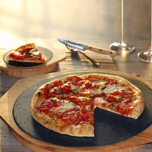 Pizza Stone - Designed to Cook Pizza & Keep it Warm