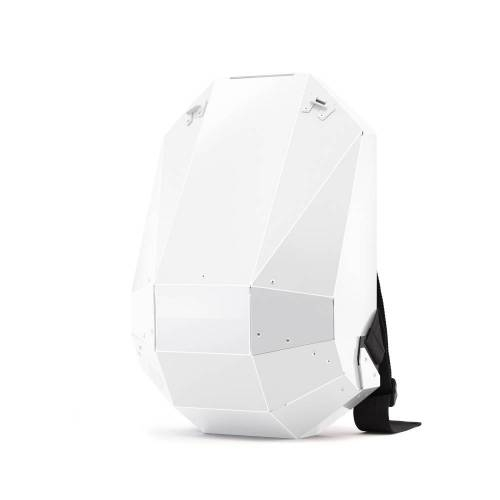 Solid Gray Backpack, White