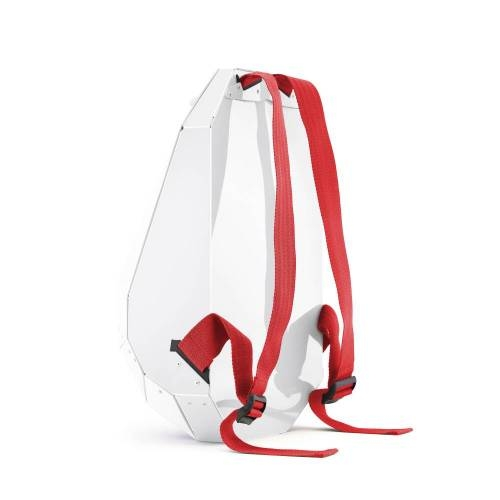 Solid Gray Backpack, White - A Lightweight Backpack with a Unique Design