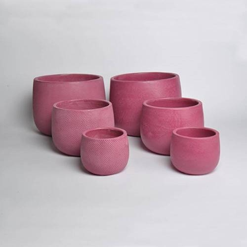 Micmac Pot Set of 3, Dark Red