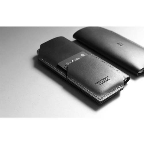 502 iPhone 6/6 PLUS Sleeve, Charcoal - Leather iPhone Sleeve