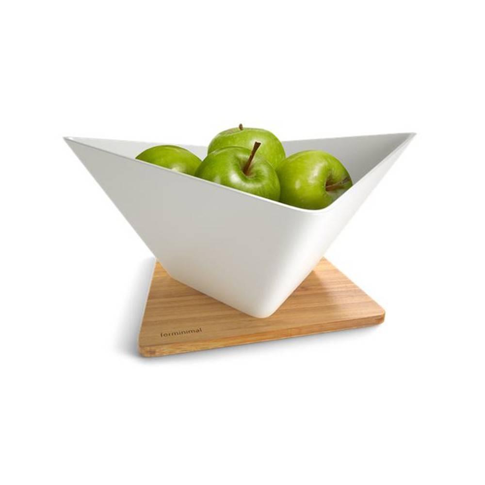 Draining Fruit Bowl + Mat - A Modern Sculptural Bowl that Doubles as a Colander