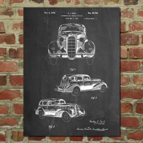 Cadillac La Salle 1934 Patent Print