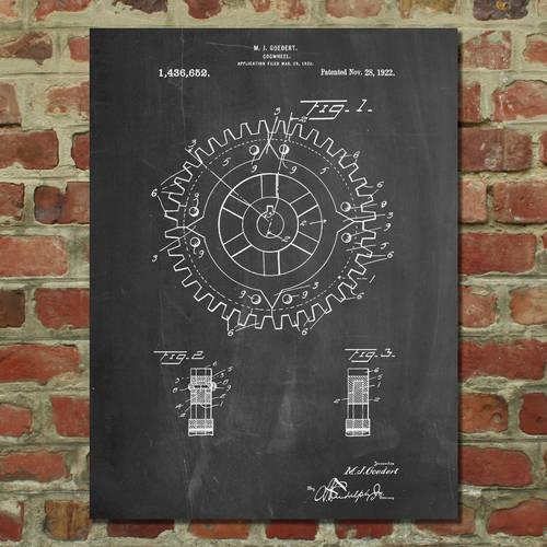 Cogwheel Patent Print