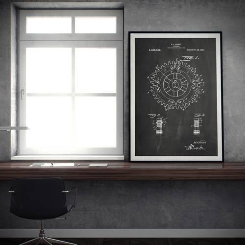 Cogwheel Patent Print - Patent Prints