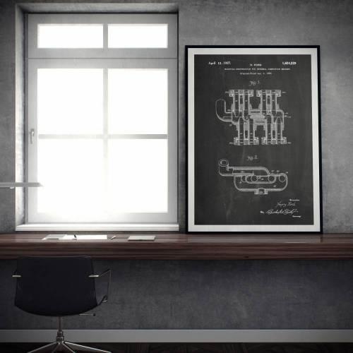 Engine Manifold Patent Print