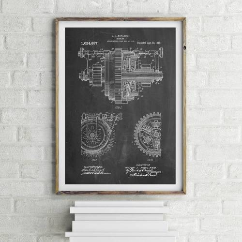 Gearing Patent Print - Patent Prints