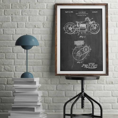 Indian Motorcycle Patent Print