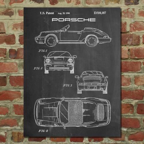 Porsche 911 Patent Print
