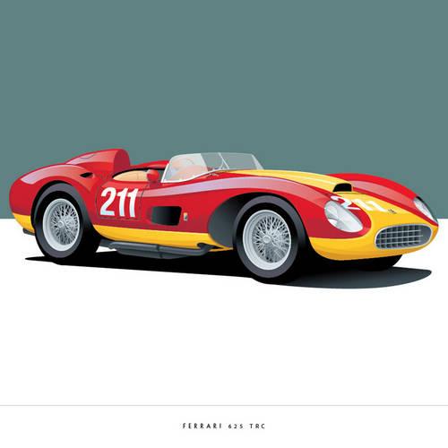 Ferrari 625 TRC Art Print
