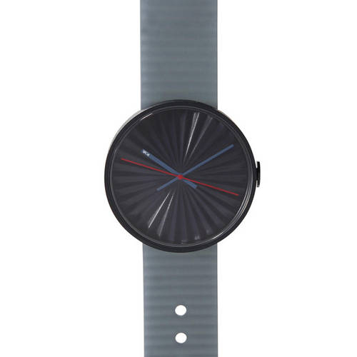 Blue Plicate Watch with 3D Dial
