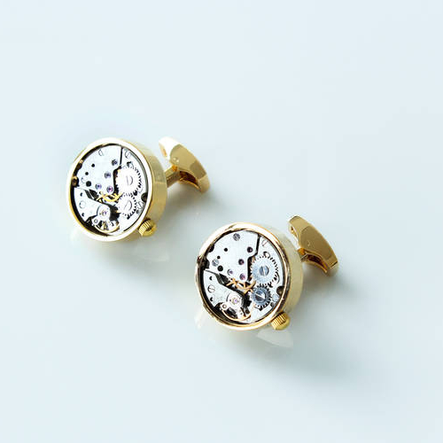 The Drake - Steel Cufflinks made from Watch Movements