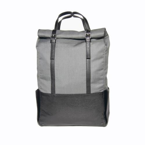 Black Leather Backpack | Voyager |Transforms into a Tote Bag