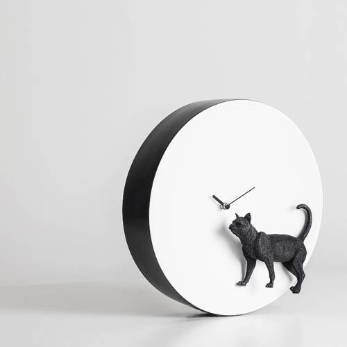 Moon X Cat Clock