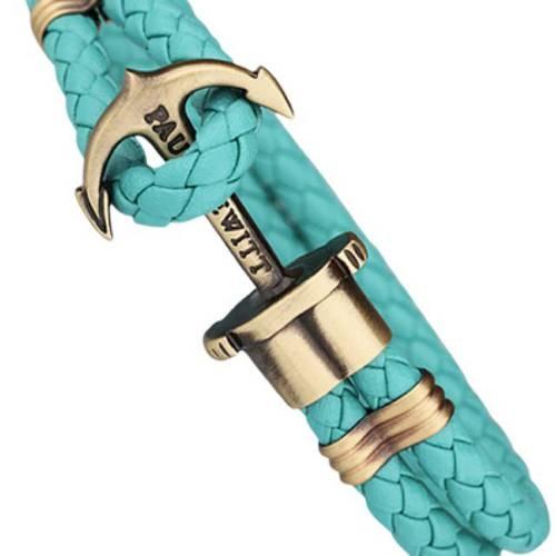PHREP Leather Bracelet, Turquoise - Paul Hewitt