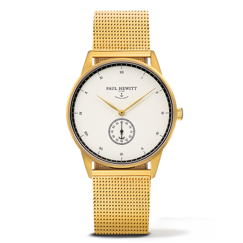 Mark I Mesh Watch, White Ocean
