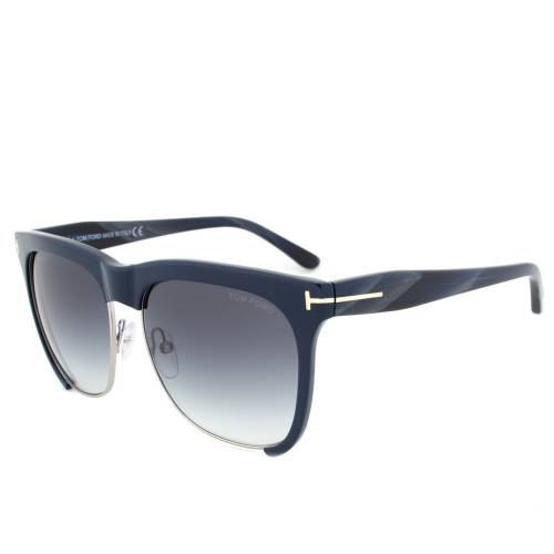 Tom Ford TF366 74B Thea Gunmetal/Blue Sunglasses