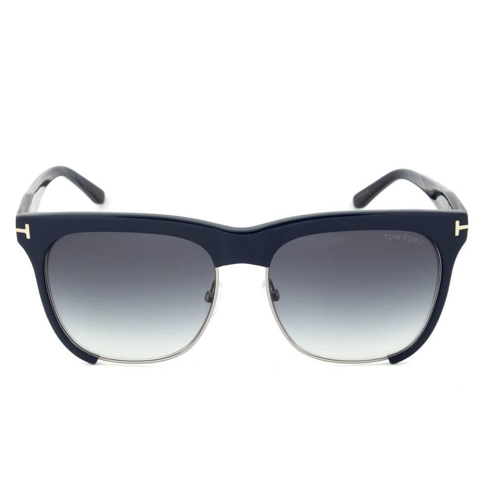 Tom Ford TF366 74B Thea Gunmetal/Blue Sunglasses
