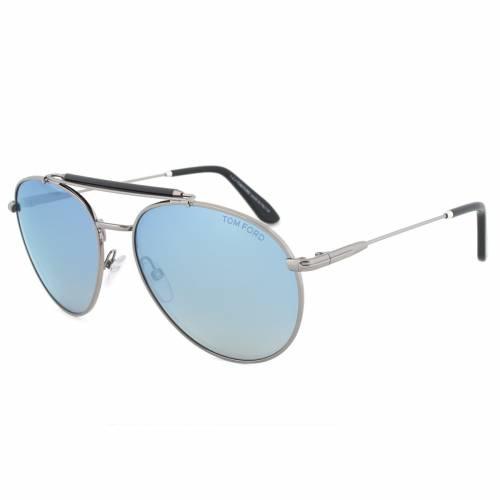 Tom Ford TF338 14X Colin Gunmetal Aviator Sunglasses