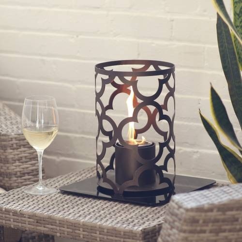 Mediterranean 12X8 Outdoor Steel Lantern in Bronze
