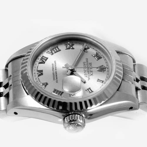 Rolex Ladies Stainless Steel Datejust Watch