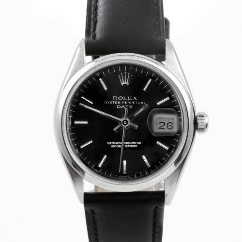Rolex Men's Stainless Steel Date Watch