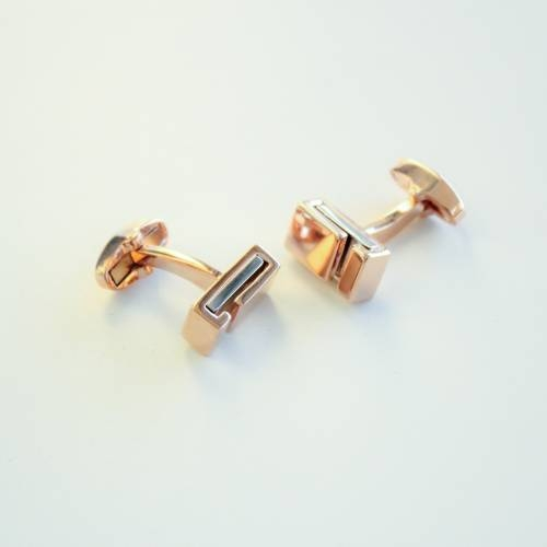 FlipMyTie Gold with Lines Cufflink