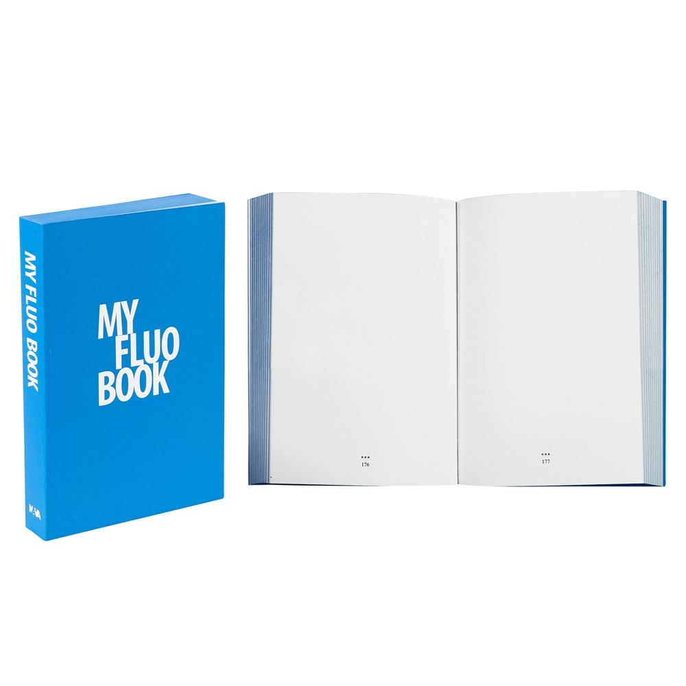 Designer Pocket Diary/Journal My Fluo Book, Blue
