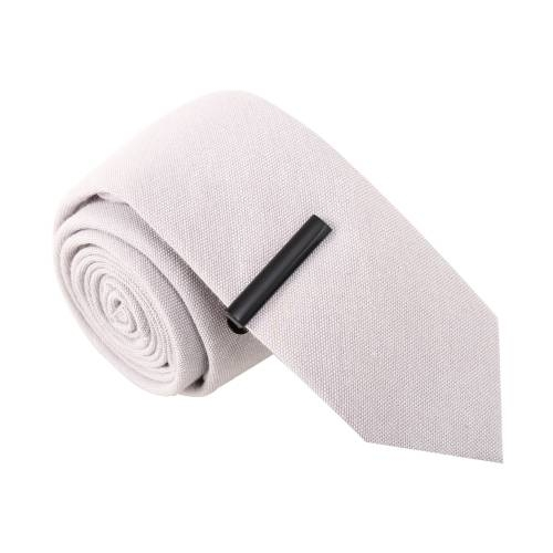Dynamite Debra Grey Tie with Tie Clip