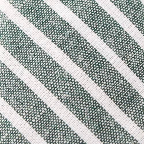 Grey and White Striped Skinny Tie with Tie Bar