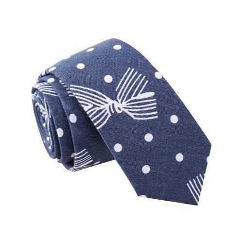 'Polka Stew' Navy Tie