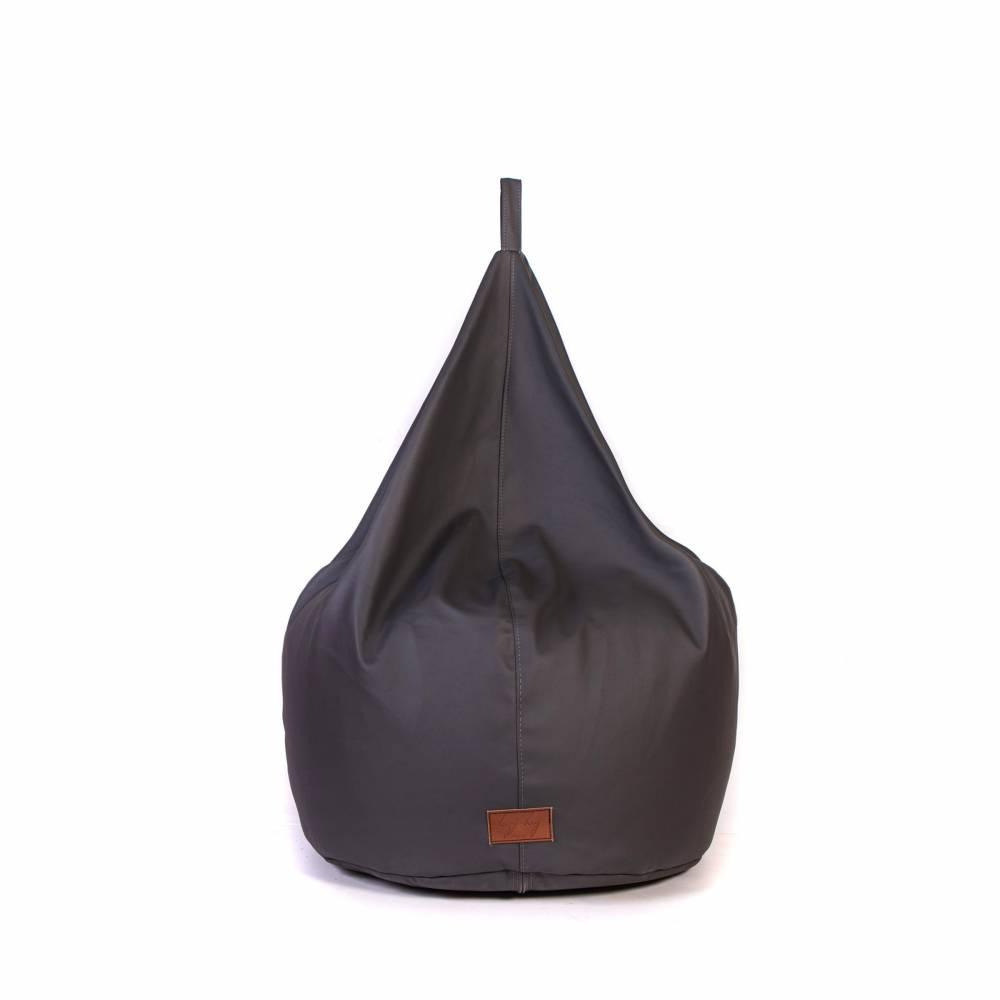 BASTILLE Grey |  Lazy Life Paris | Pear-shaped bag indoor